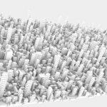 StructureSynthによるビル街の生成処理(1)